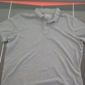 Eddie Bauer plain grey polo